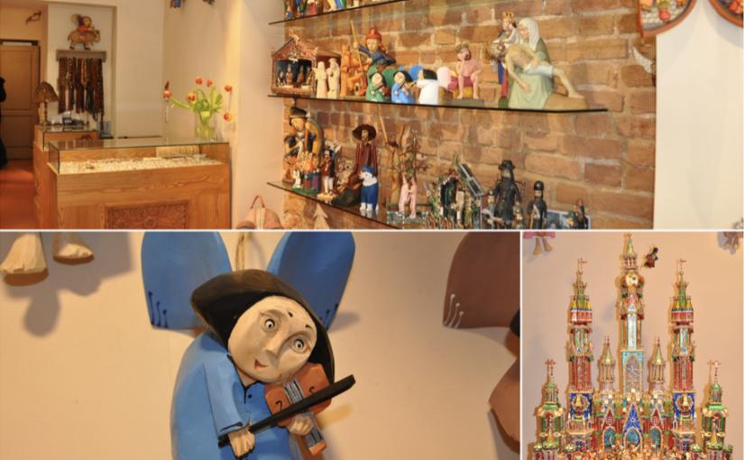 Drewniane ręcznie tworzone anioły i szopki bożonarodzeniowe idealne na prezent